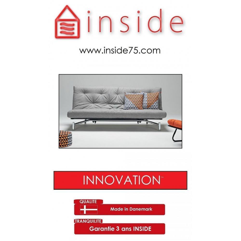 canap s ouverture express clic clac haut de gamme spider capitonn gris inside75. Black Bedroom Furniture Sets. Home Design Ideas