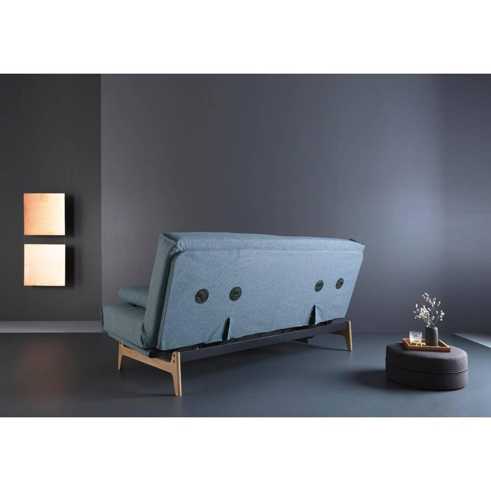 Canapé design mulitfonction ASLAK Mixed Dance_Light Blue convertible lit 140*200cm