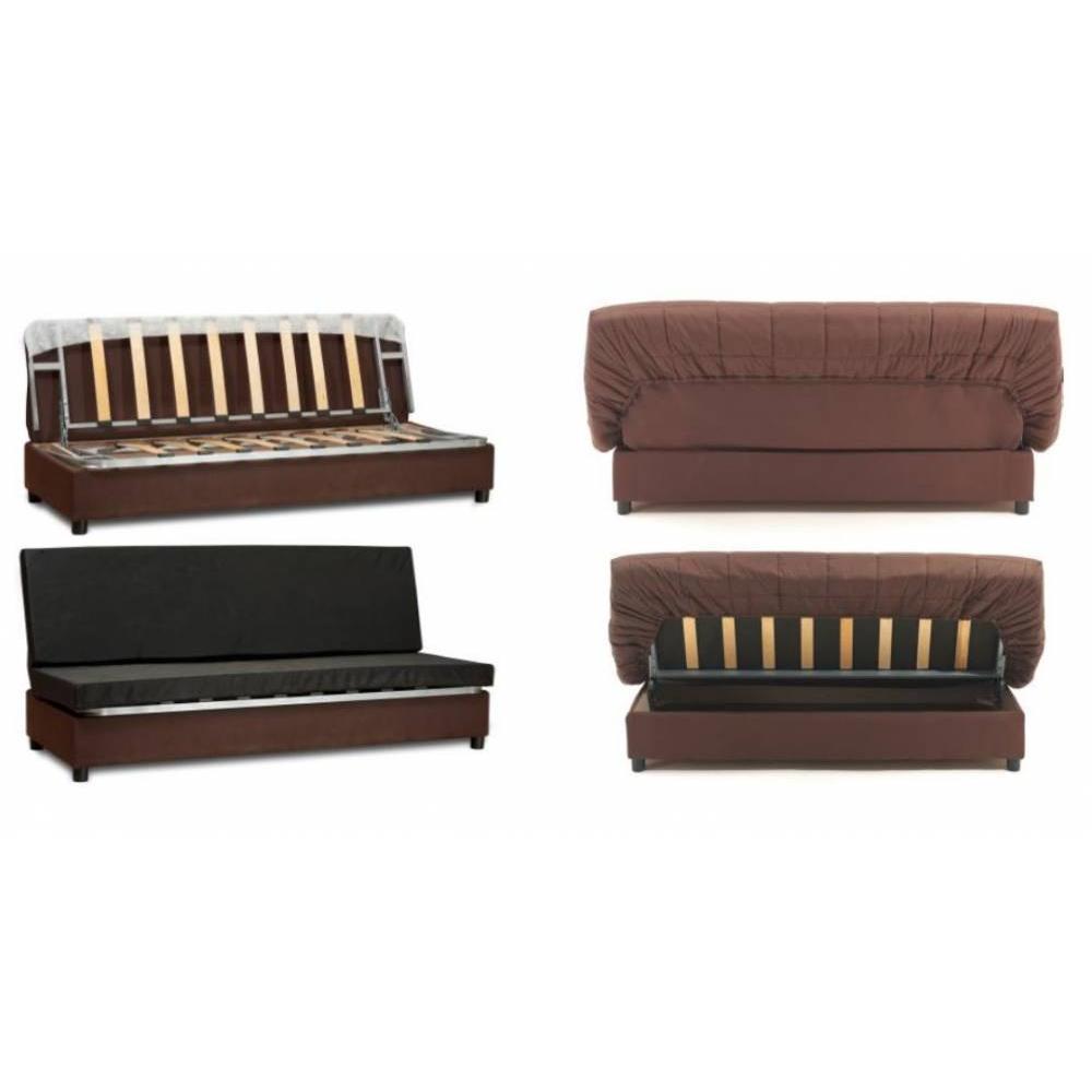 canap lit clic clac au meilleur prix clic clac convertible limerick imprim bonjourn e blanc. Black Bedroom Furniture Sets. Home Design Ideas