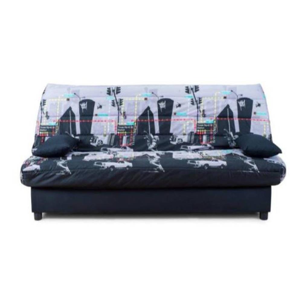 canap lit clic clac au meilleur prix clic clac convertible limerick imprim broadway 120 185cm. Black Bedroom Furniture Sets. Home Design Ideas