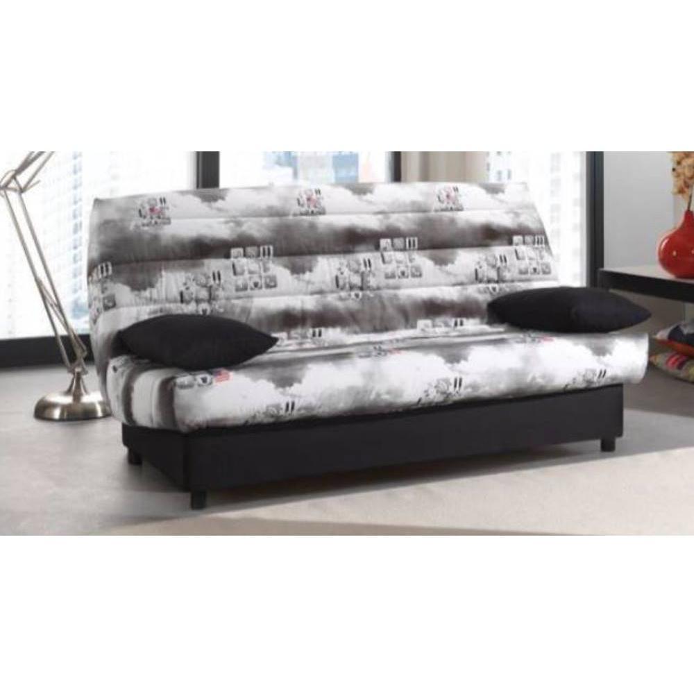 canap lit clic clac au meilleur prix clic clac convertible limerick imprim icone 120 185cm. Black Bedroom Furniture Sets. Home Design Ideas
