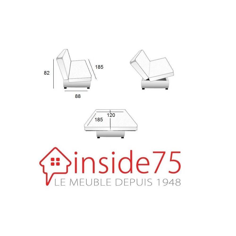 canap lit clic clac au meilleur prix clic clac convertible limerick imprim manhattan 120. Black Bedroom Furniture Sets. Home Design Ideas