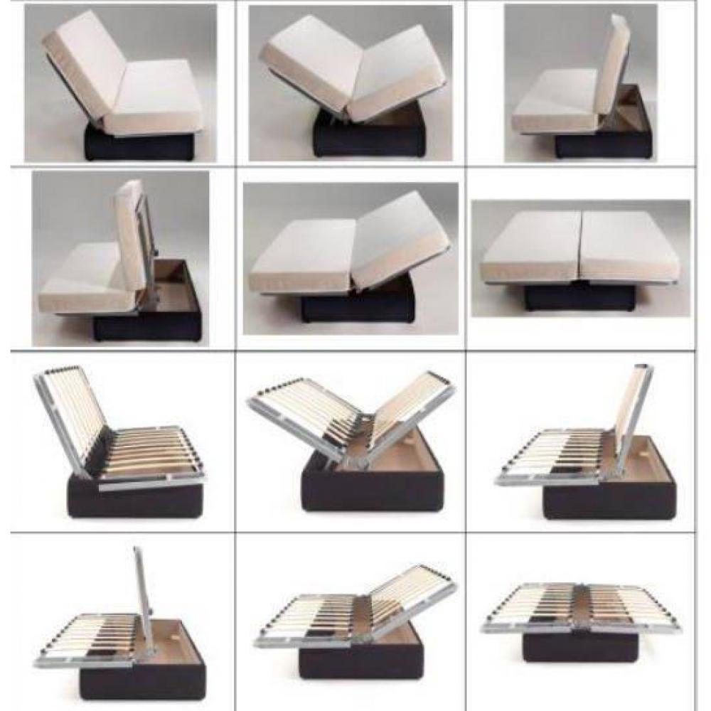 CLIC CLAC LUXE convertible CASLANO  chocolat 130*190cm matelas 12 cm