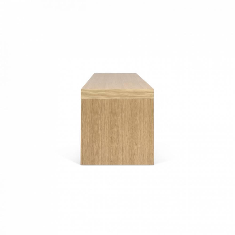 Meubles Tv Meubles Et Rangements Cliff 120 Meuble Tv Design  # Meubles Tv Chene Et Laque Blanc Mat