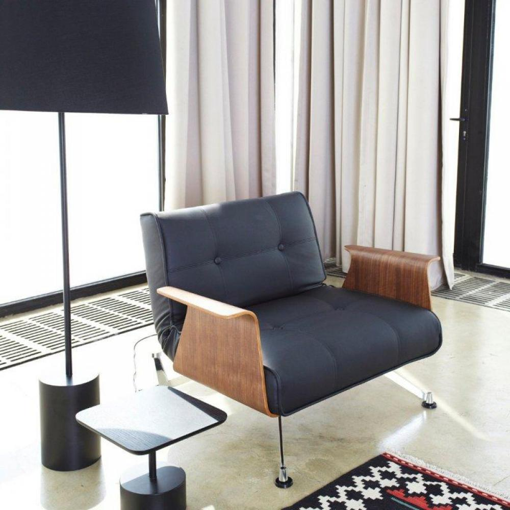canap s convertibles design canap s rapido fauteuil design clubber accoudoirs noir fa on cuir. Black Bedroom Furniture Sets. Home Design Ideas
