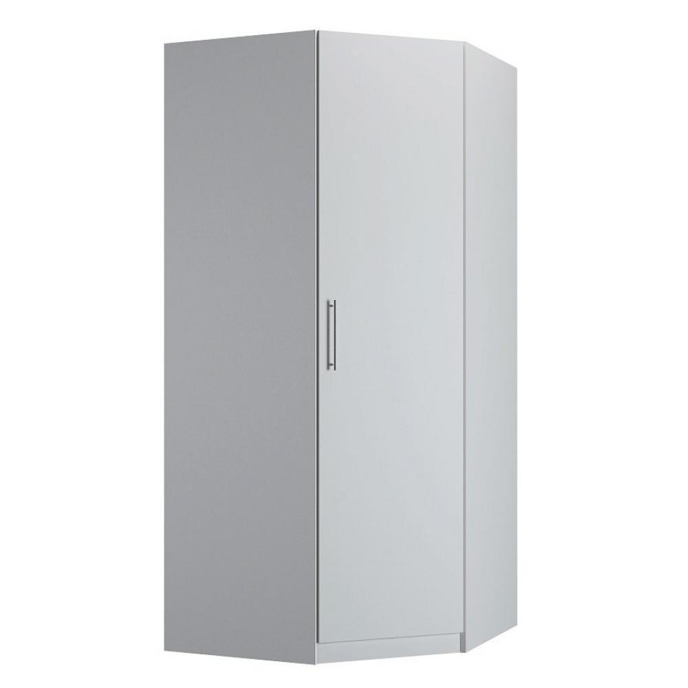 Tringle D Angle Dressing armoire d'angle 1 porte 100 x 100 cm 1 étagère, 1 tringle penderie coloris  blanc mat