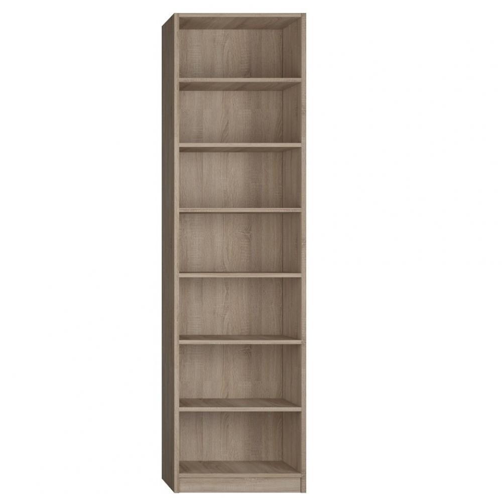 Canapes Convertibles Ouverture Rapido Colonne Bibliotheque 6 Etageres Finition Chene Naturel Largeur 50 Cm Inside75