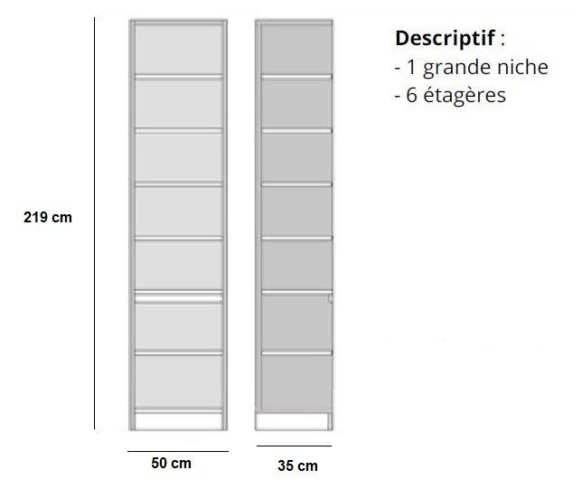Canapés convertibles ouverture rapido, Colonne bibliothèque 6 étagères finition chêne naturel ...