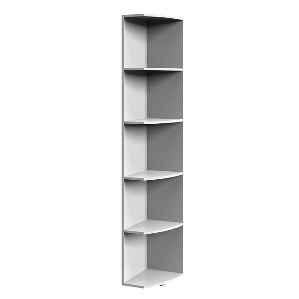 Colonne étagères terminal LUND blanc mat largeur 30 cm