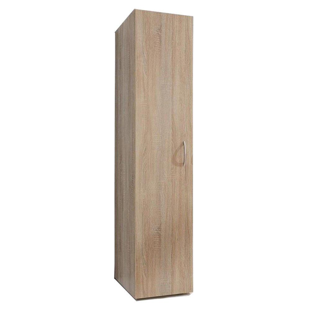 Colonne de rangement LUND 1 porte chêne naturel 30 x 40 cm profondeur