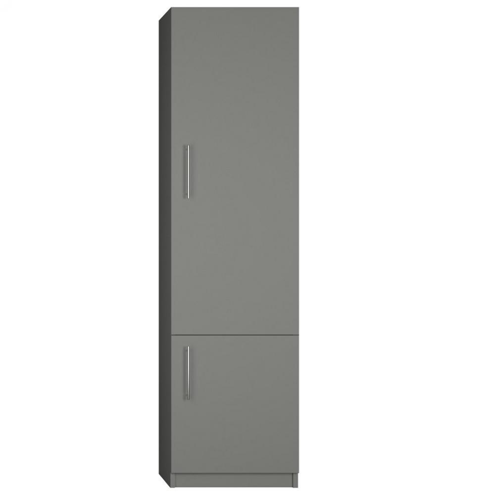 Canapes Convertibles Ouverture Rapido Colonne De Rangement 2 Portes Coloris Gris Graphite Mat Largeur 50 Cm Inside75