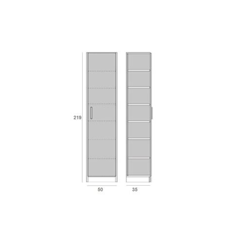 Canapes Convertibles Ouverture Rapido Colonne De Rangement Avec Grande Porte Coloris Chene Naturel Largeur 50 Cm Inside75