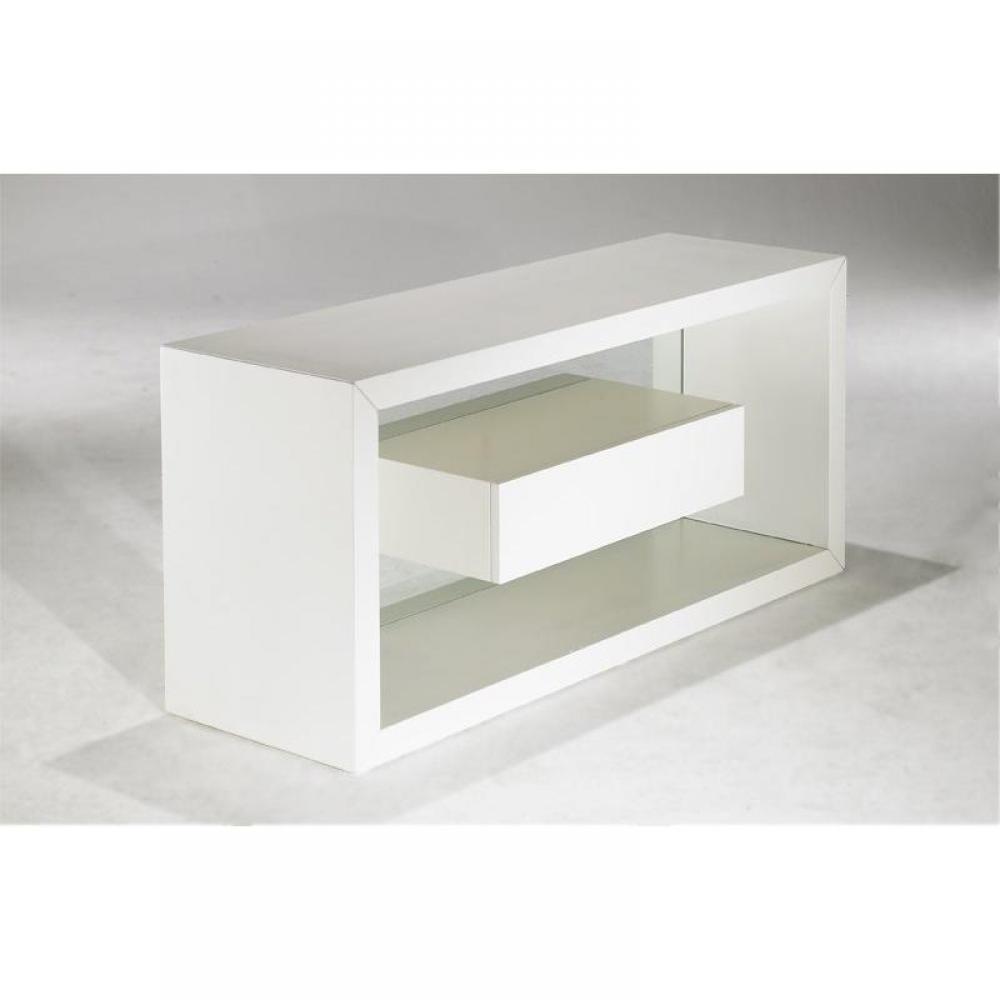 meubles tv meubles et rangements com te meuble tv avec tiroir et fond en verre inside75. Black Bedroom Furniture Sets. Home Design Ideas