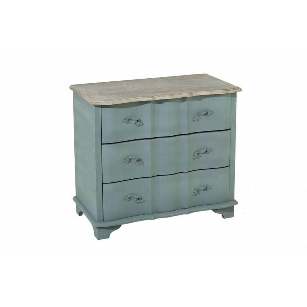 commodes meubles et rangements commode 3 tiroirs cassie en bois gris style baroque inside75. Black Bedroom Furniture Sets. Home Design Ideas