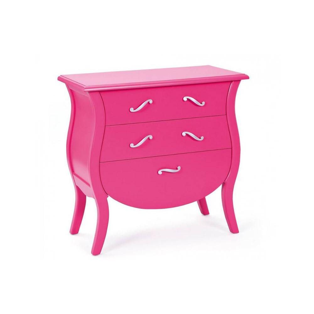commodes meubles et rangements commode barokko 3 tiroirs rose inside75. Black Bedroom Furniture Sets. Home Design Ideas