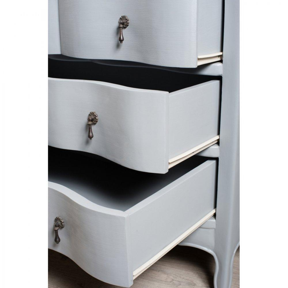 commodes meubles et rangements console baroque madrid 3 tiroirs bleu ardoise en manguier. Black Bedroom Furniture Sets. Home Design Ideas