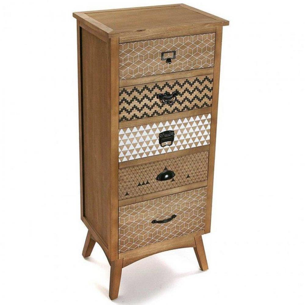 Commodes meubles et rangements commode ethnika 5 for Meuble 5 tiroirs