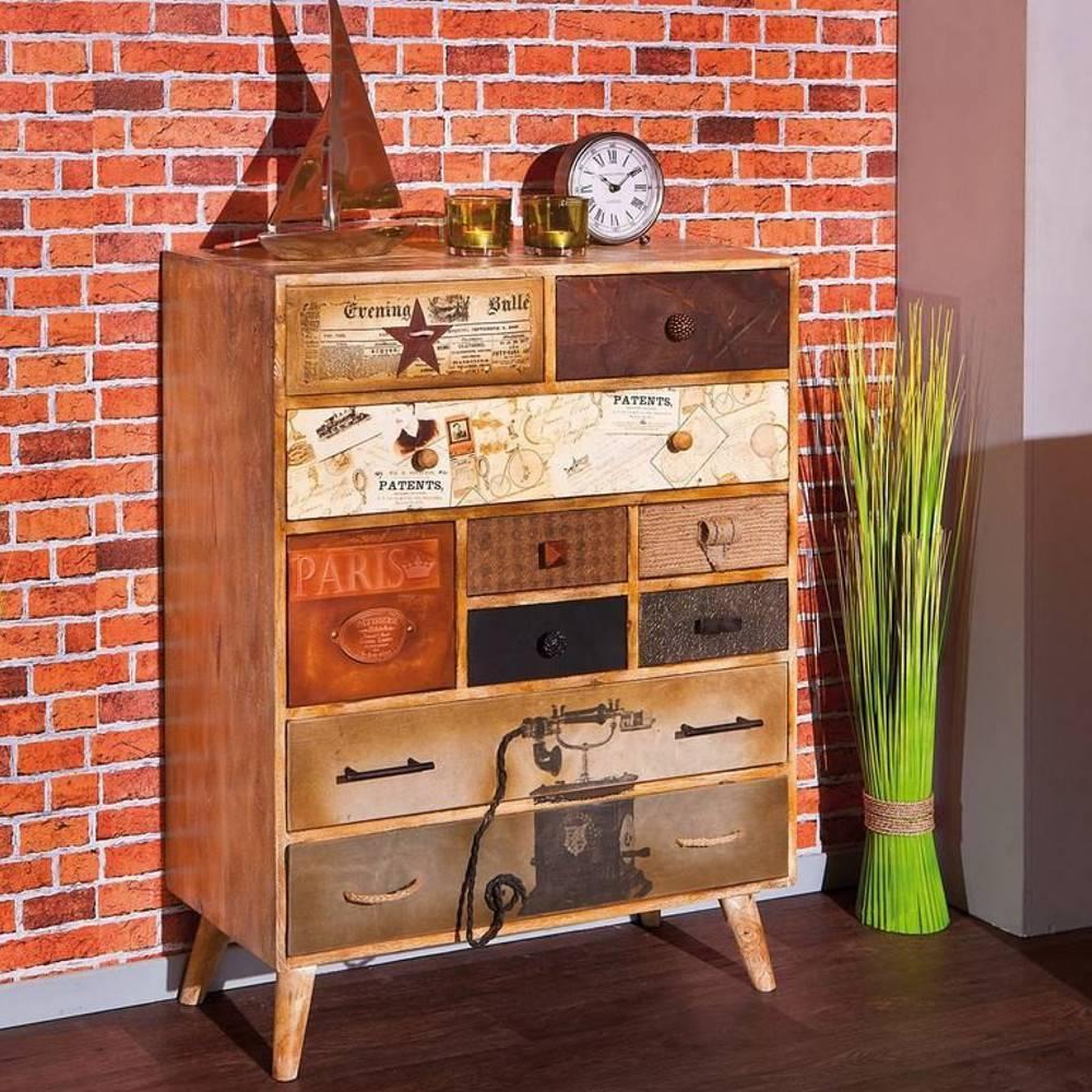 commodes meubles et rangements commode lucan 10 tiroirs en bois de manguier inside75. Black Bedroom Furniture Sets. Home Design Ideas