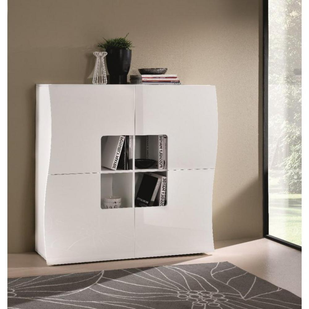 commodes meubles et rangements commode onda cube 4 tiroirs blanc brillant inside75. Black Bedroom Furniture Sets. Home Design Ideas