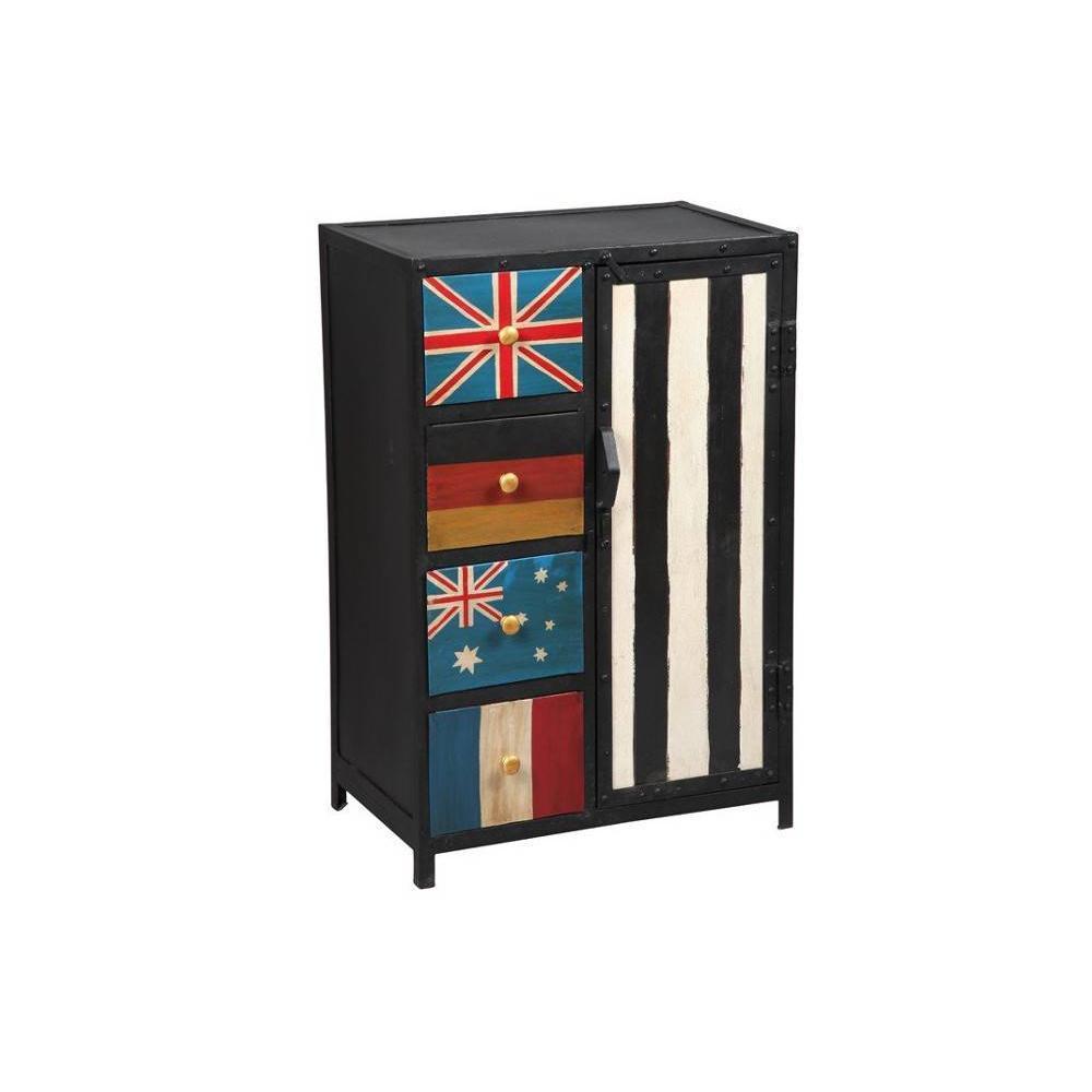 Commodes meubles et rangements commode recover en acier for Commode tiroir et porte