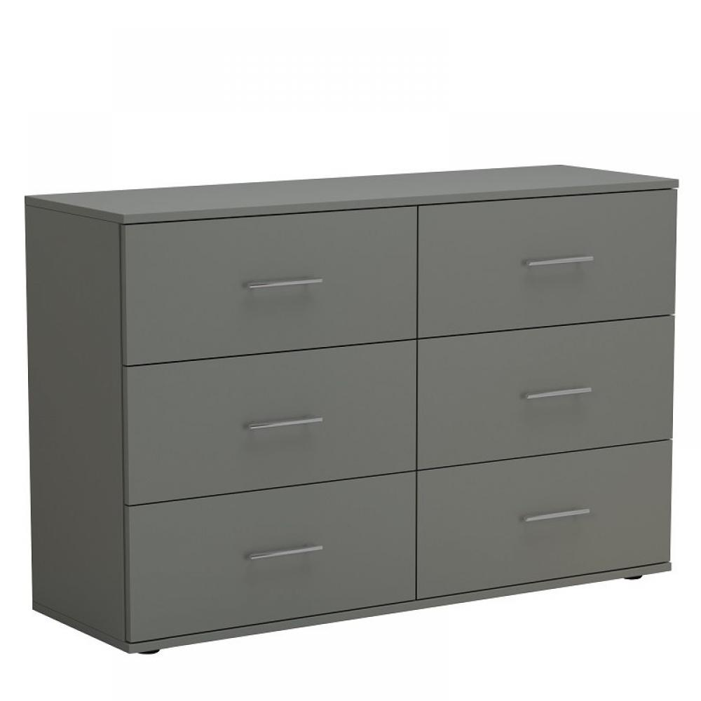 Commode SMART 6 tiroirs gris graphite mat