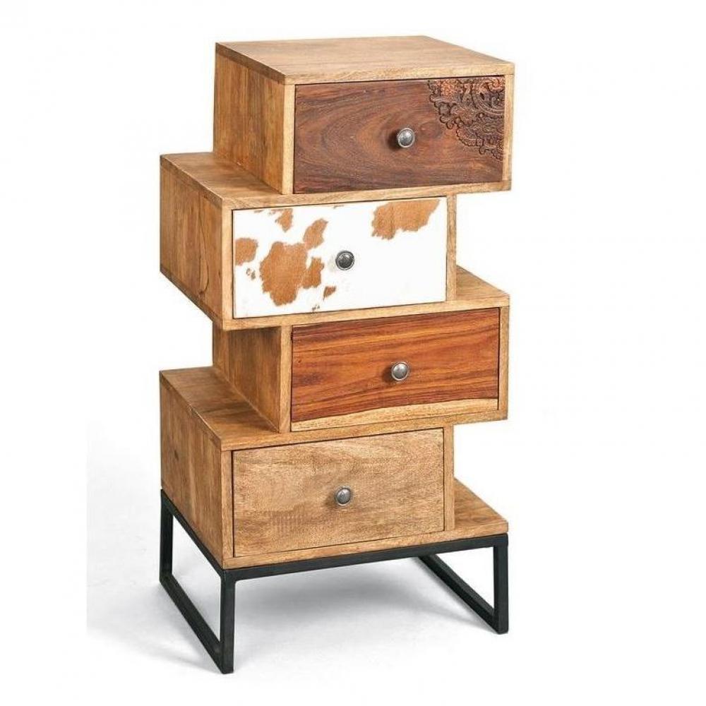 Commode SUA 4 tiroirs en bois de manguier recycle