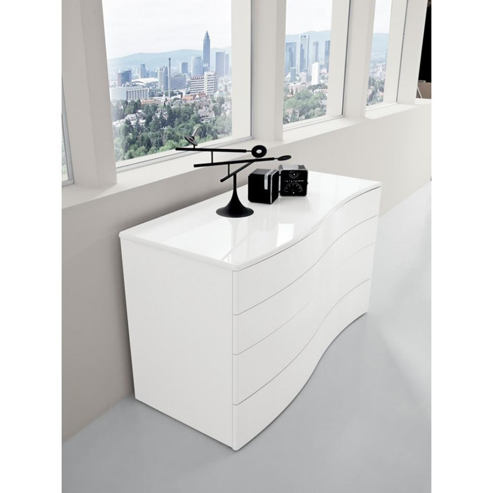 commodes meubles et rangements commode aliante haut de gamme venier laqu e blanc brillant. Black Bedroom Furniture Sets. Home Design Ideas