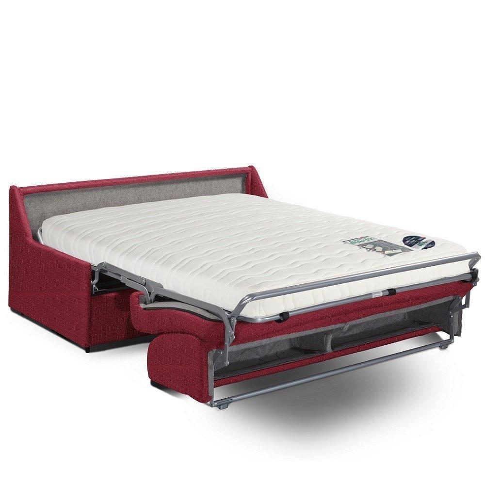 Canapé convertible express COMPACTO matelas 140cm comfort BULTEX® tissu neo rouge