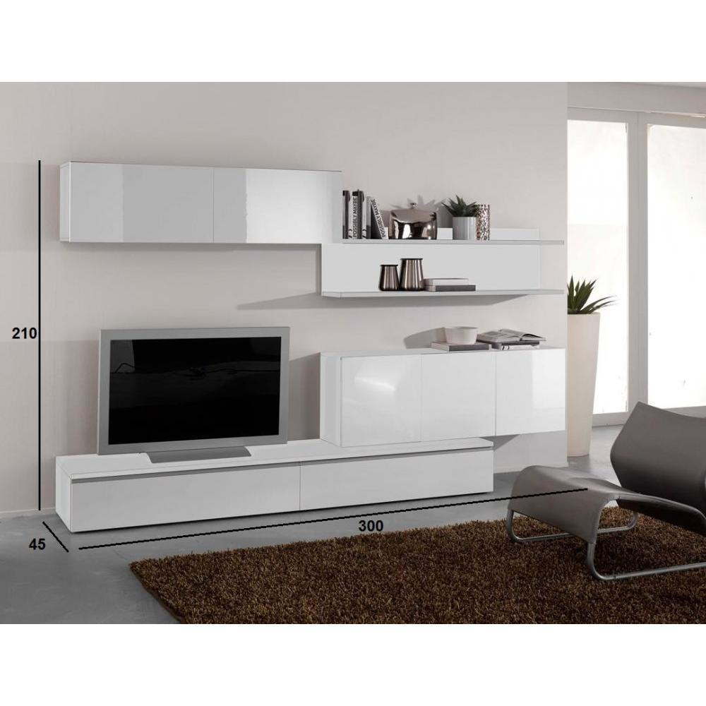 Composition Murale Tv Design Composition Murale Tv Design Primera  # Ensemble Meubles Gris Blanc