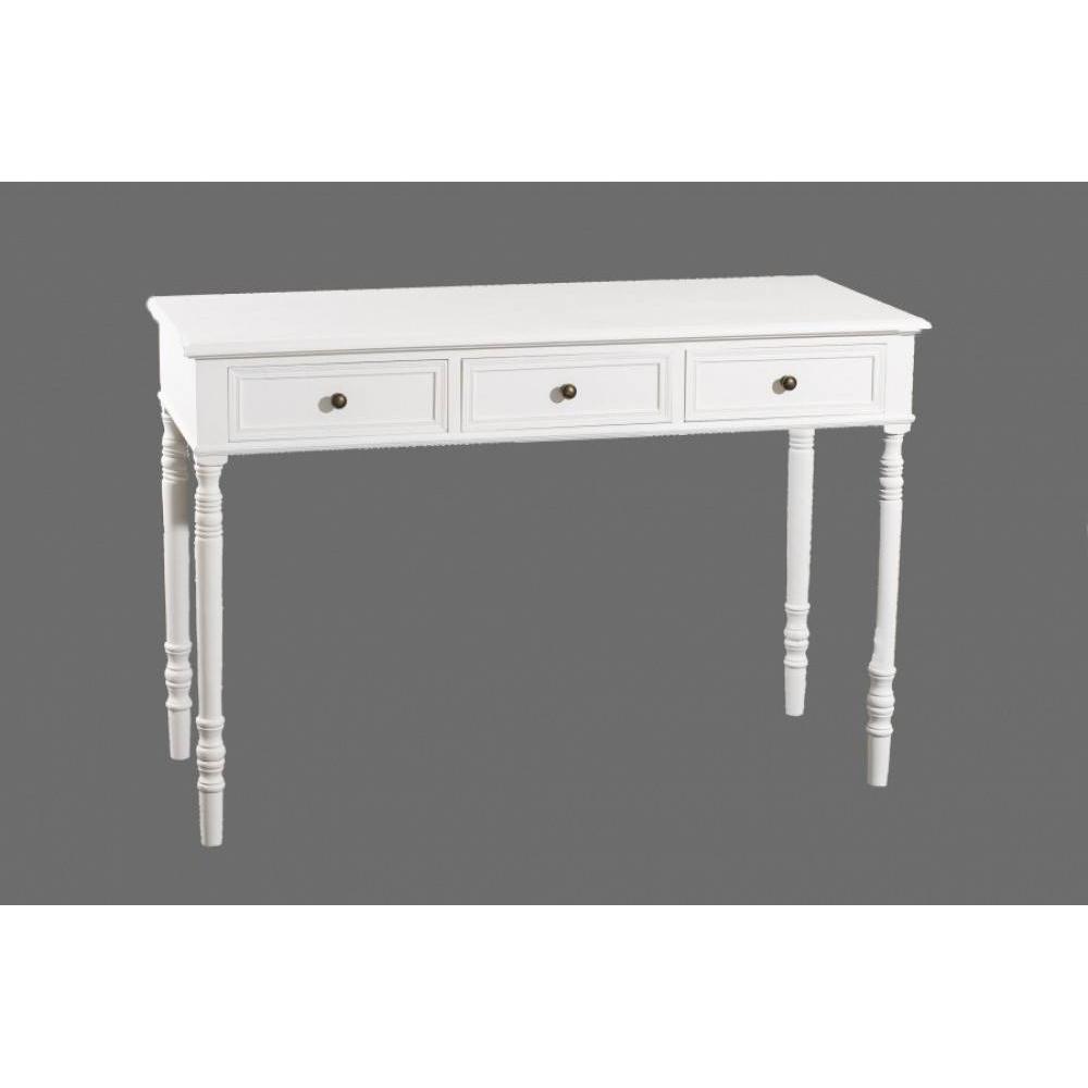 console design ultra tendance au meilleur prix console fixe 3 tiroirs eva en bois blanc style. Black Bedroom Furniture Sets. Home Design Ideas