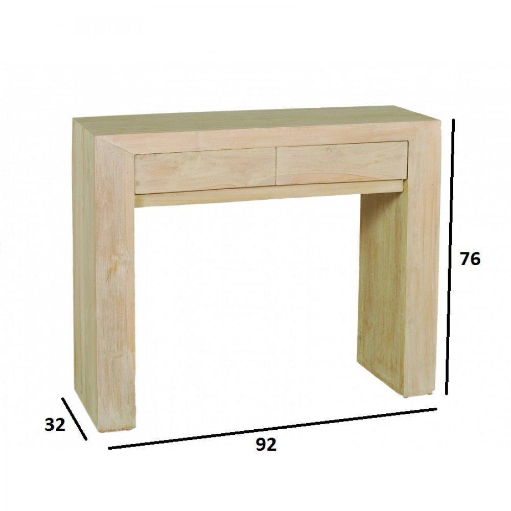 console design ultra tendance au meilleur prix console design moderne api ines en teck blanchi. Black Bedroom Furniture Sets. Home Design Ideas