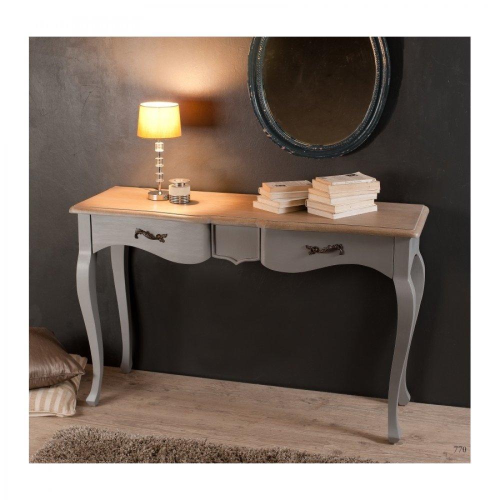 console design ultra tendance au meilleur prix console baroque 2 tiroirs capri bleu ardoise en. Black Bedroom Furniture Sets. Home Design Ideas