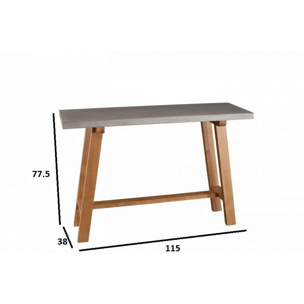 console design ultra tendance au meilleur prix console design industriel nino en ch ne plateau. Black Bedroom Furniture Sets. Home Design Ideas