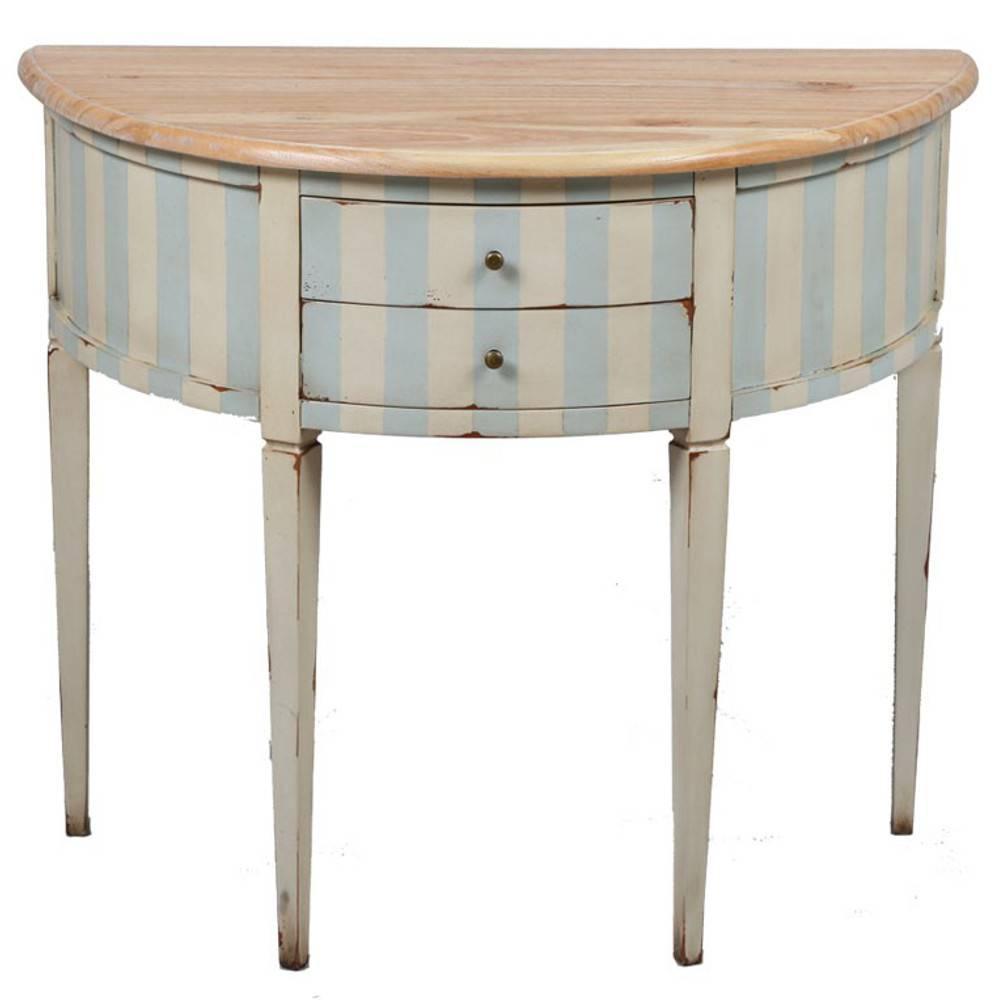 consoles meubles et rangements console demi lune adela de de style r gence 2 tiroirs inside75. Black Bedroom Furniture Sets. Home Design Ideas