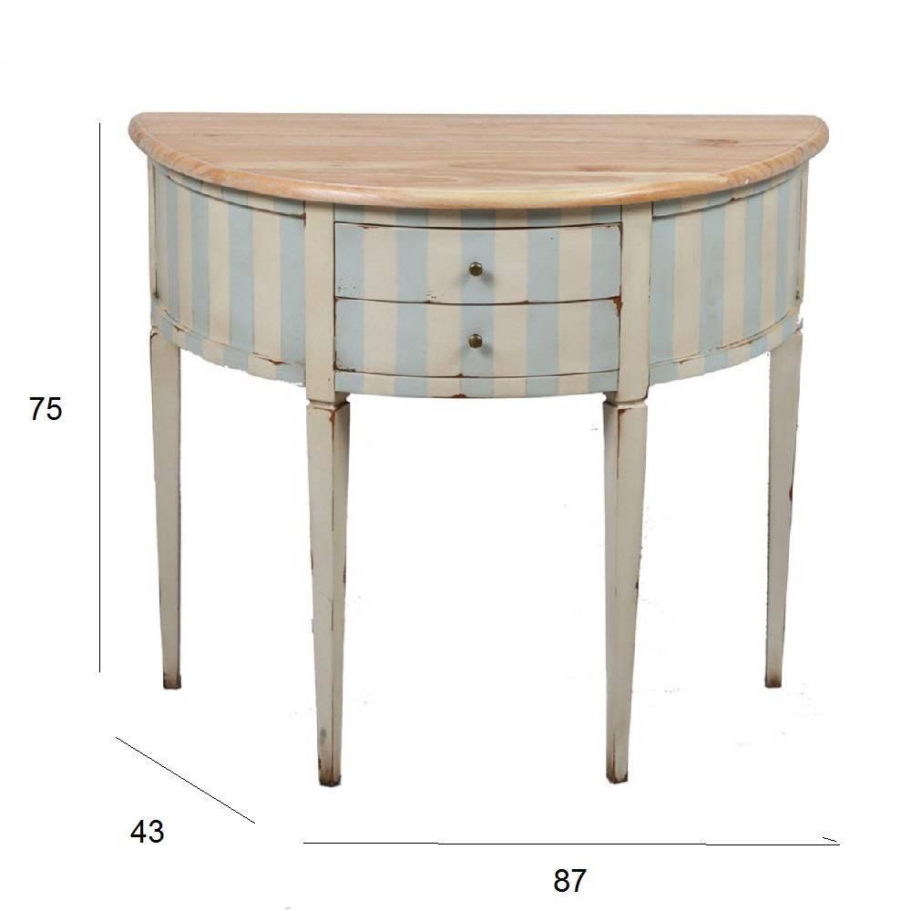 Consoles meubles et rangements console demi lune - Meuble demi lune bois ...