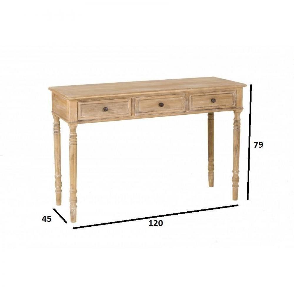 console design ultra tendance au meilleur prix console 3 tiroir sarah en bois de paulownia. Black Bedroom Furniture Sets. Home Design Ideas