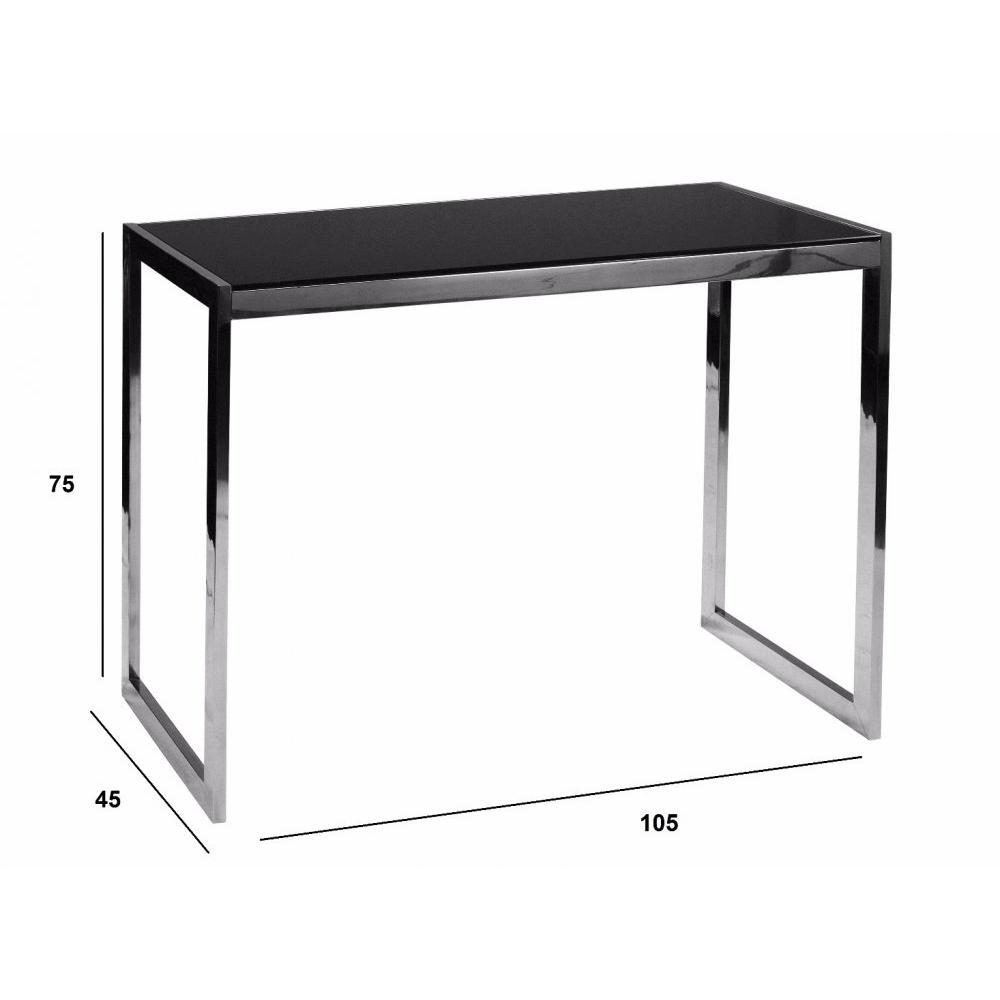 console design ultra tendance au meilleur prix console design winter en verre noir inside75. Black Bedroom Furniture Sets. Home Design Ideas