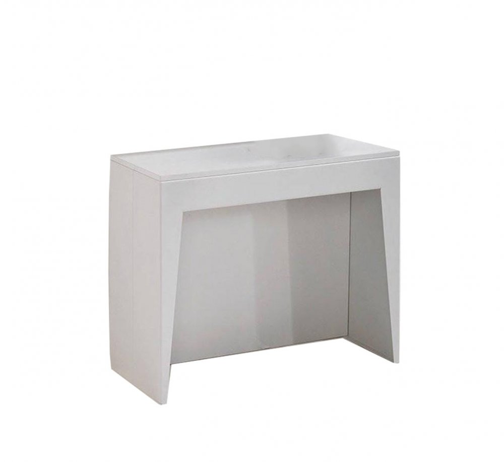 Console extensible le gain de place tendance au meilleur - Table console extensible blanc laque design ...