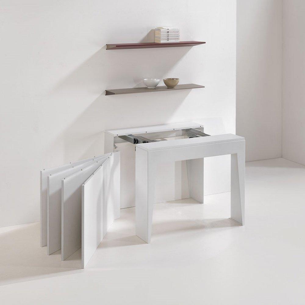 console extensible le gain de place tendance au meilleur prix console extensible cosmic blanc. Black Bedroom Furniture Sets. Home Design Ideas