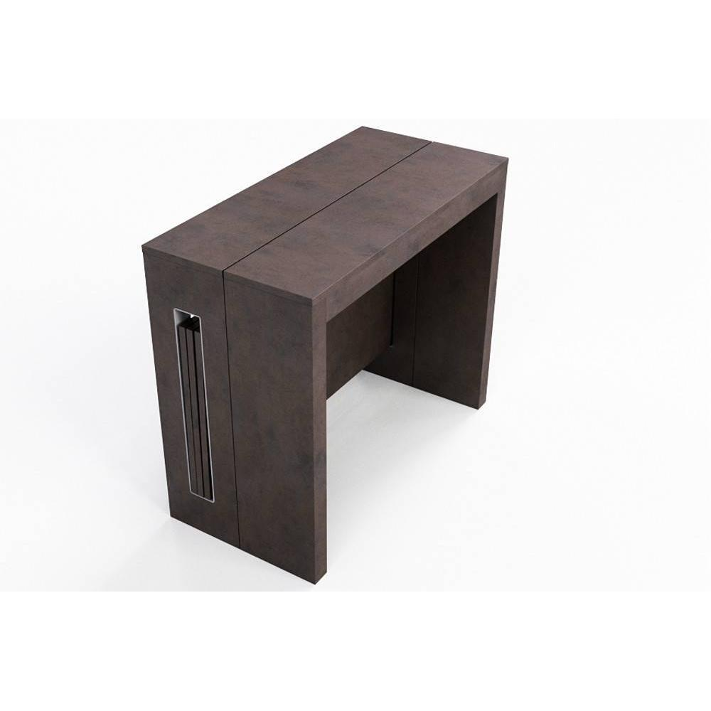 Console extensible design perfect console en table a for Table extensible avec rangement