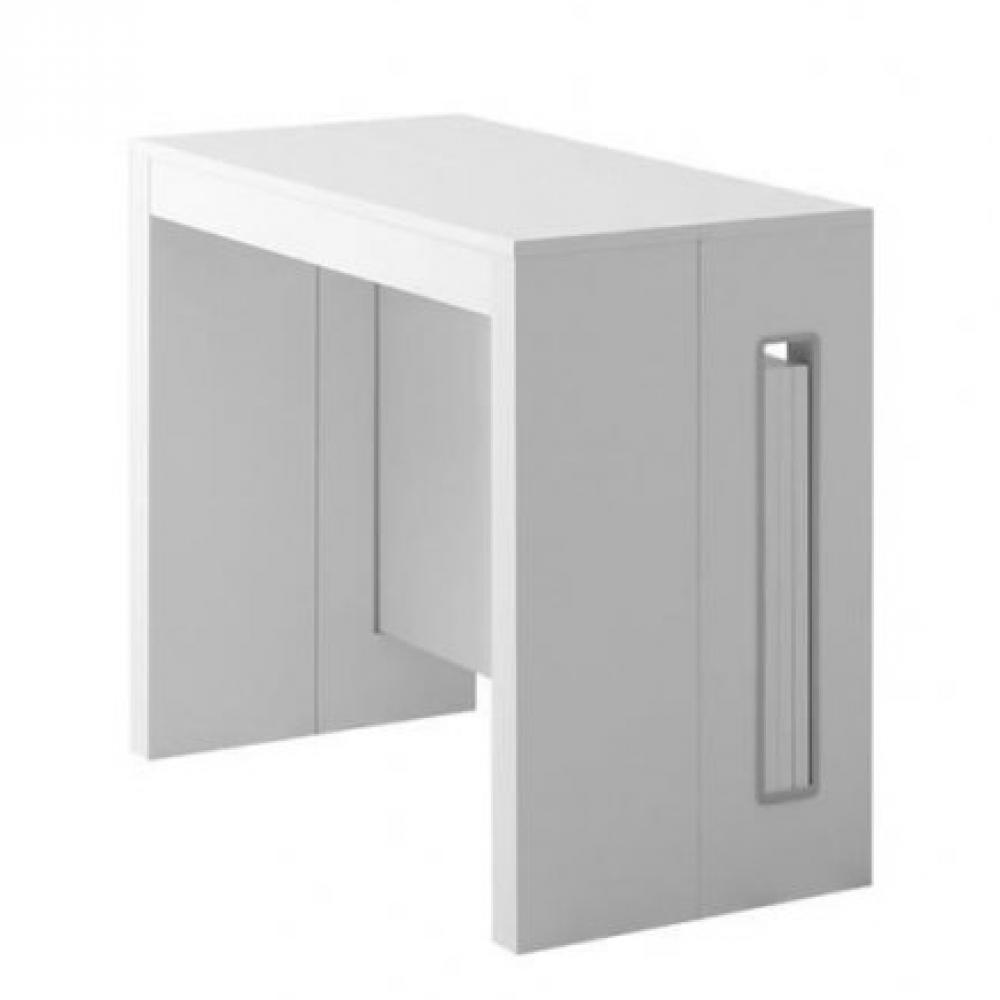 Grandezza Jusqu'à Couverts Blanc Avec Extensible Intégrées Chêne Console 8 Allonges 5A3RjLc4q