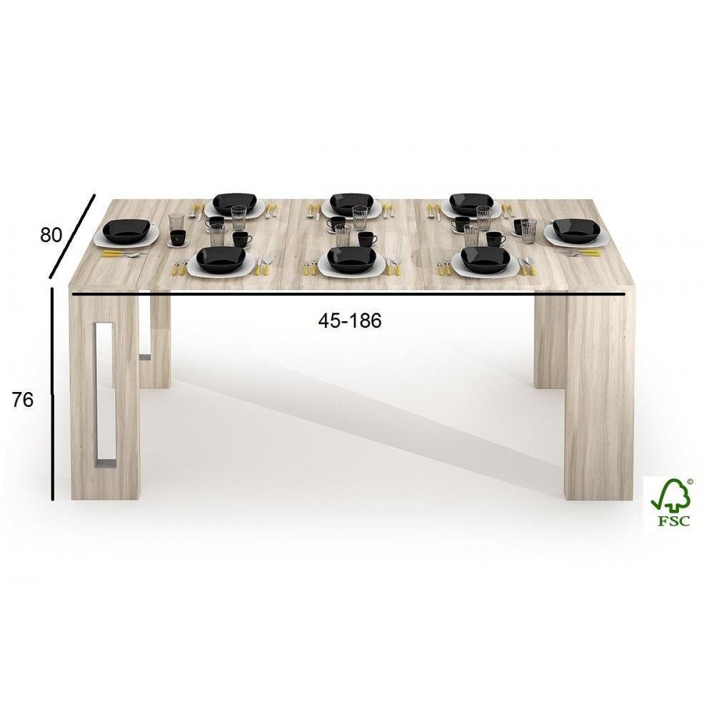 Table console extensible GRANDEZZA chêne jusqu