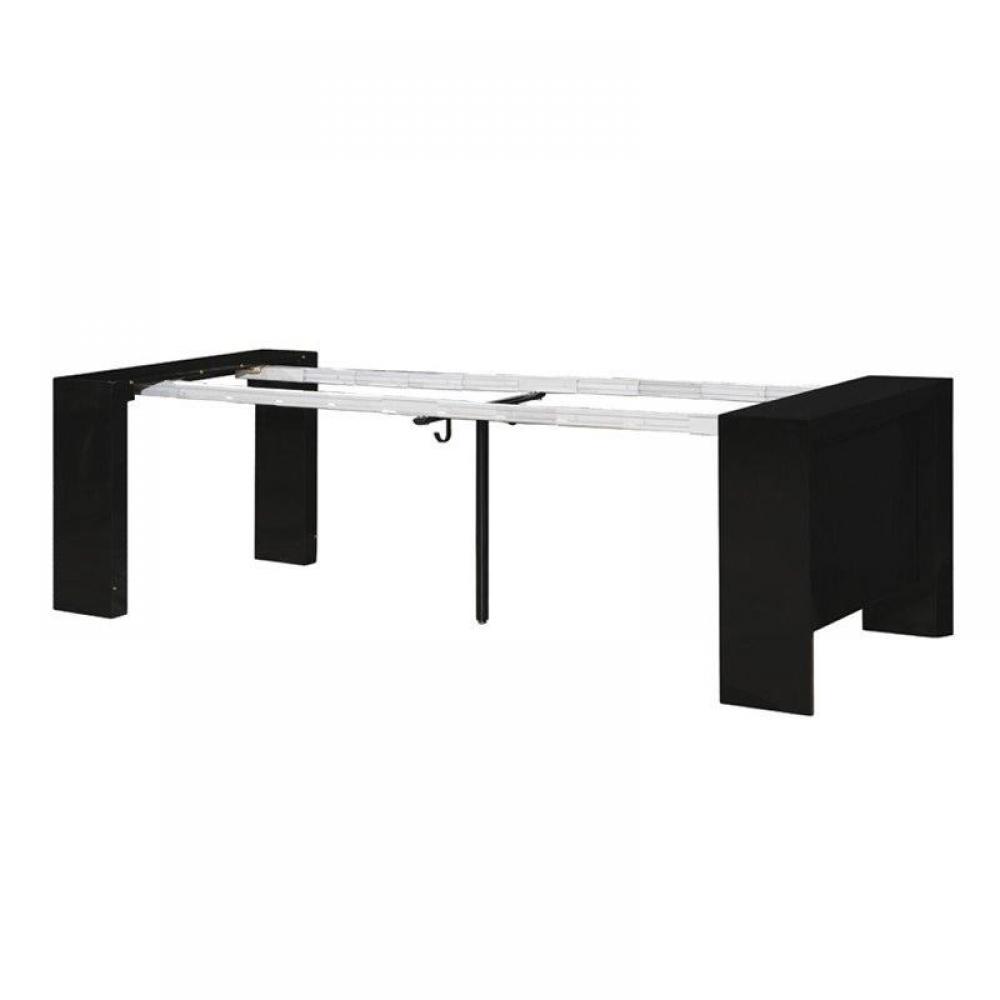 Bureaux tables et chaises console extensible misty noir Console extensible 6 personnes