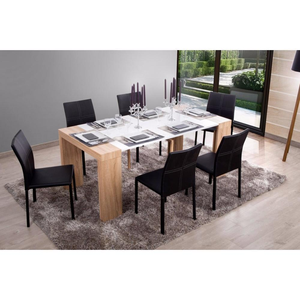 Console extensible le gain de place tendance au meilleur prix console molto - Table extensible blanc ...