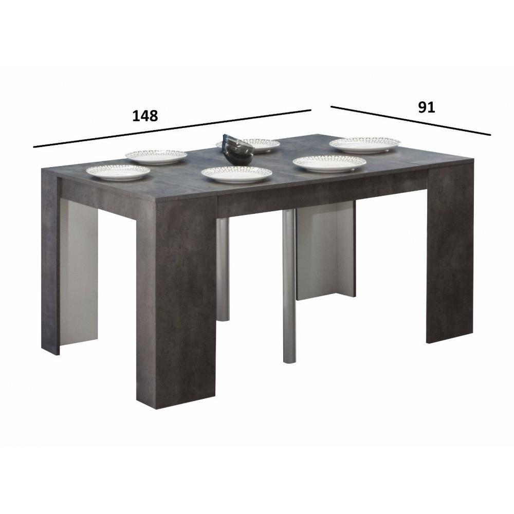 Table console rallonge conceptions de maison for Consoles extensibles