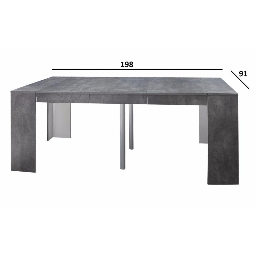 Console table extensible for Table console extensible rallonges incorporees