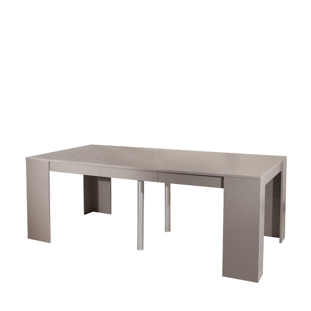 Console extensible le gain de place tendance au meilleur prix console elasto taupe mat - Table a rallonge console ...