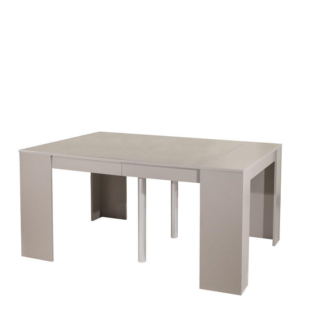consoles extensibles meubles et rangements console elasto taupe mat extensible en table repas. Black Bedroom Furniture Sets. Home Design Ideas