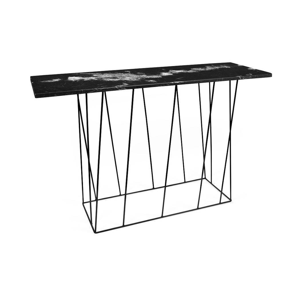 Tema Home Console design HELIX en marbre noir. Laissez vous séduire par cette console HELIX au look ultra tendance.Elle s'inspire de l'air du t