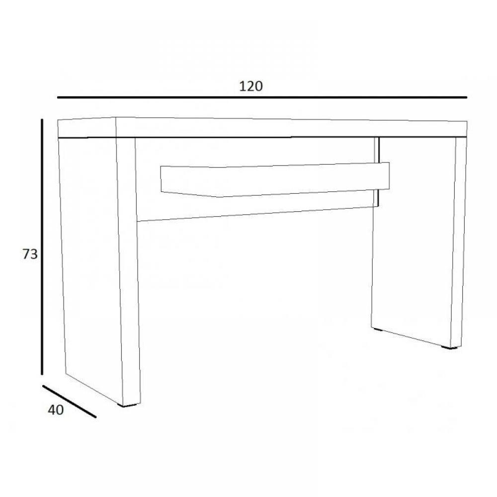 console design ultra tendance au meilleur prix console space blanc laqu inside75. Black Bedroom Furniture Sets. Home Design Ideas